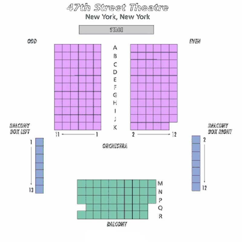 The 47th Street Theatre Seating Chart