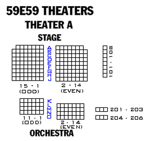 59E59 Theaters - Theater A Seating Chart