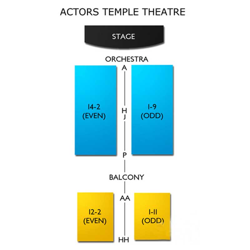 Actors Temple Theatre Seating Chart