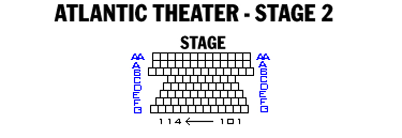 Atlantic Theatre - Stage 2 Seating Chart