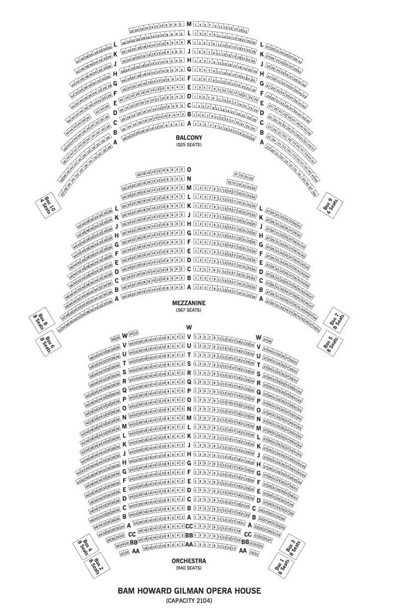 BAM Howard Gilman Opera House Seating Chart