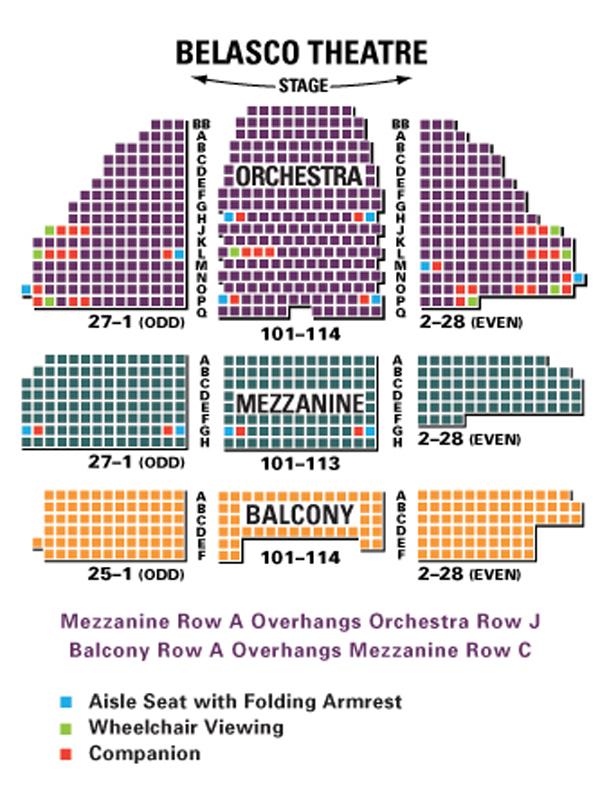 Belasco Theatre Seating Chart