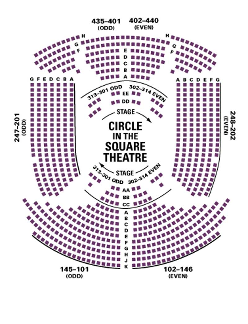 Circle In The Square Theatre Seating Chart Theatre In New