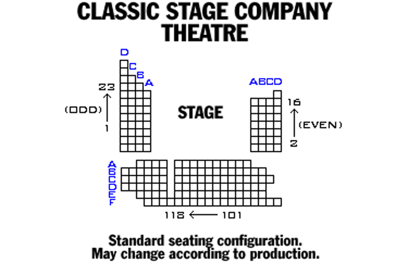 Classic Stage Company Theatre Seating Chart