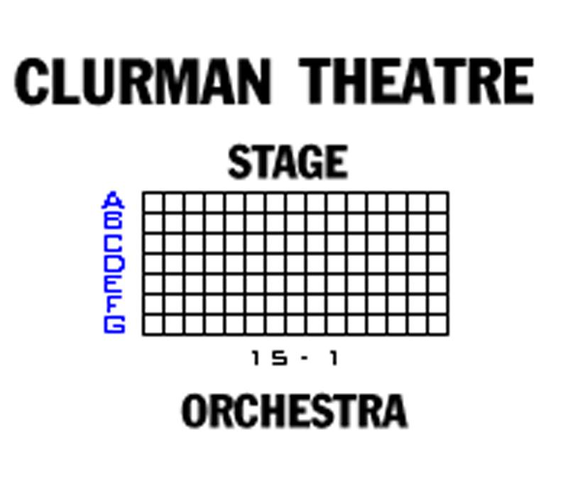 Clurman Theatre Seating Chart
