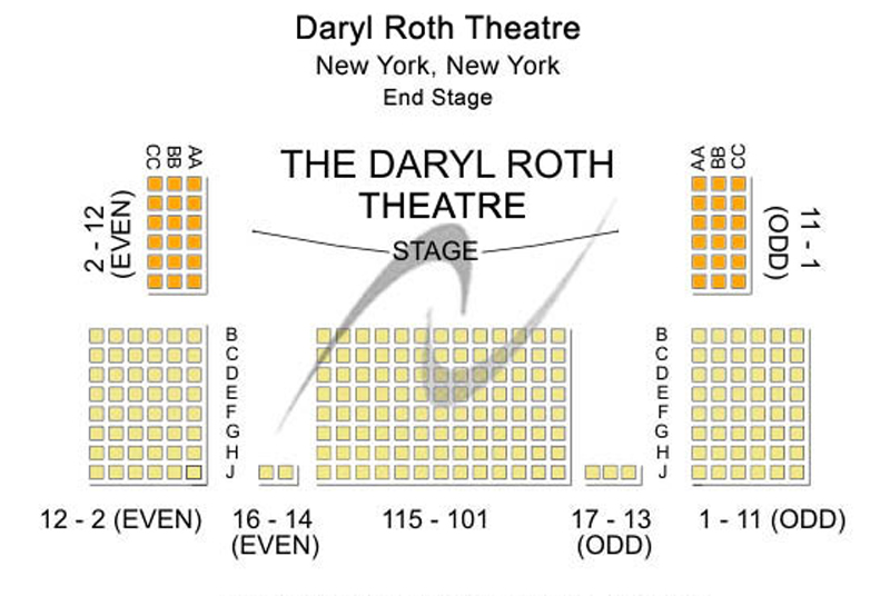 Daryl Roth Theatre Seating Chart
