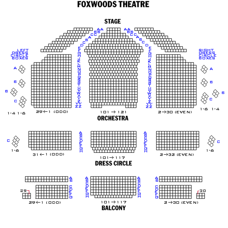 Foxwoods Theatre Seating Chart