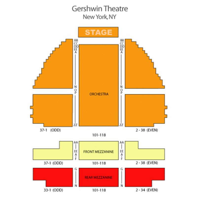 George Gershwin Theatre Seating Chart