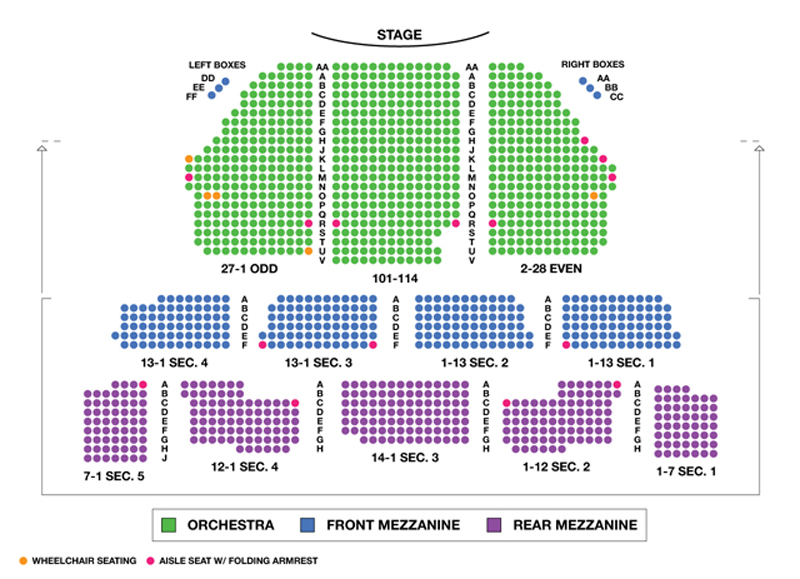 Imperial Theater Seating Chart