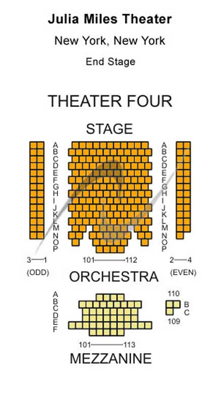 The Julia Miles Theater Seating Chart