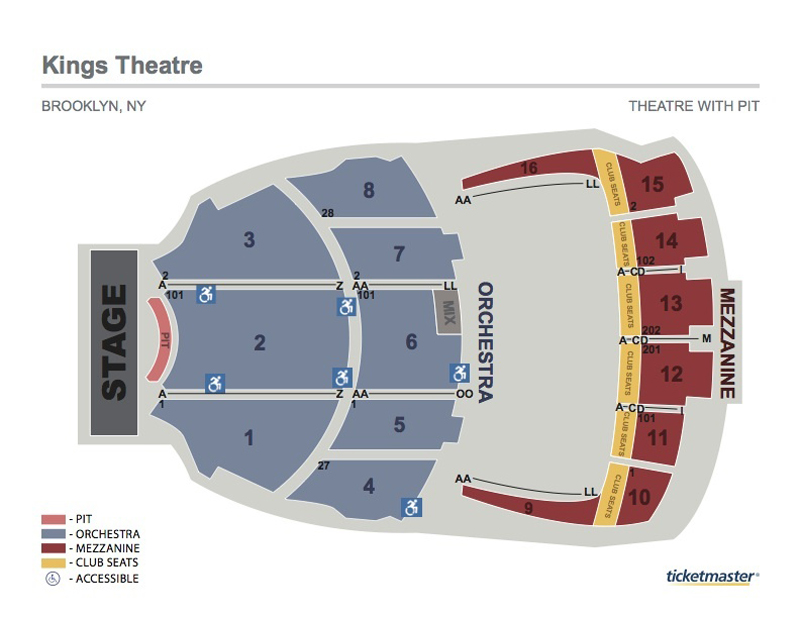 Kings Theatre Seating Chart