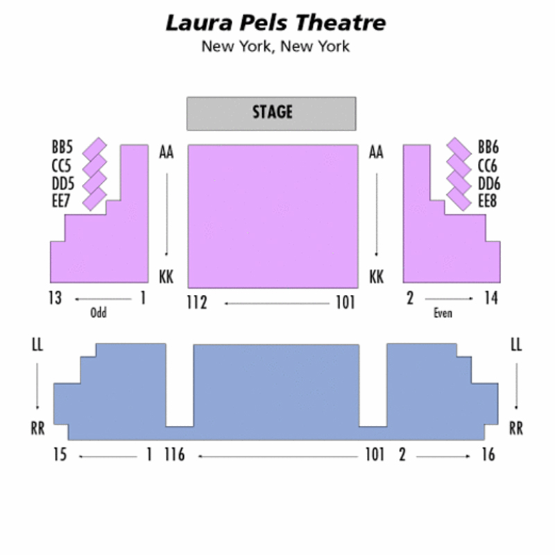 Laura Pels Theatre Seating Chart