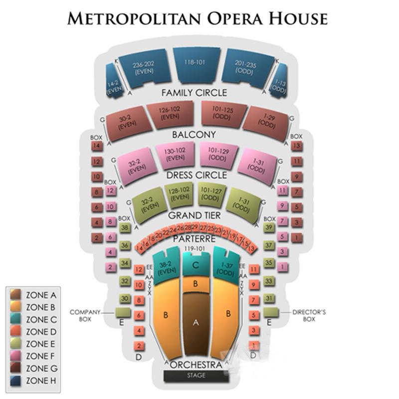 Metropolitan Opera House Theatre Seating Chart
