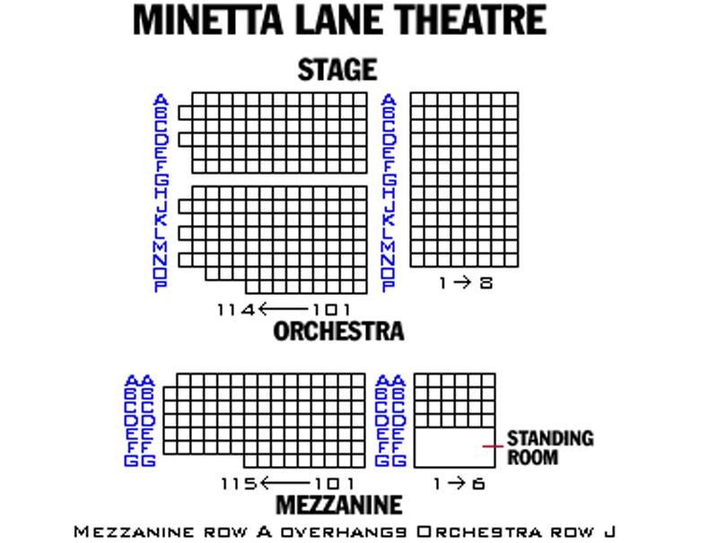 Minetta Lane Theatre Seating Chart