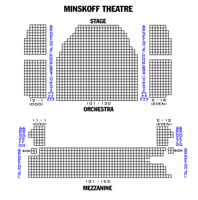 Minskoff theatre seating chart theatre in new york