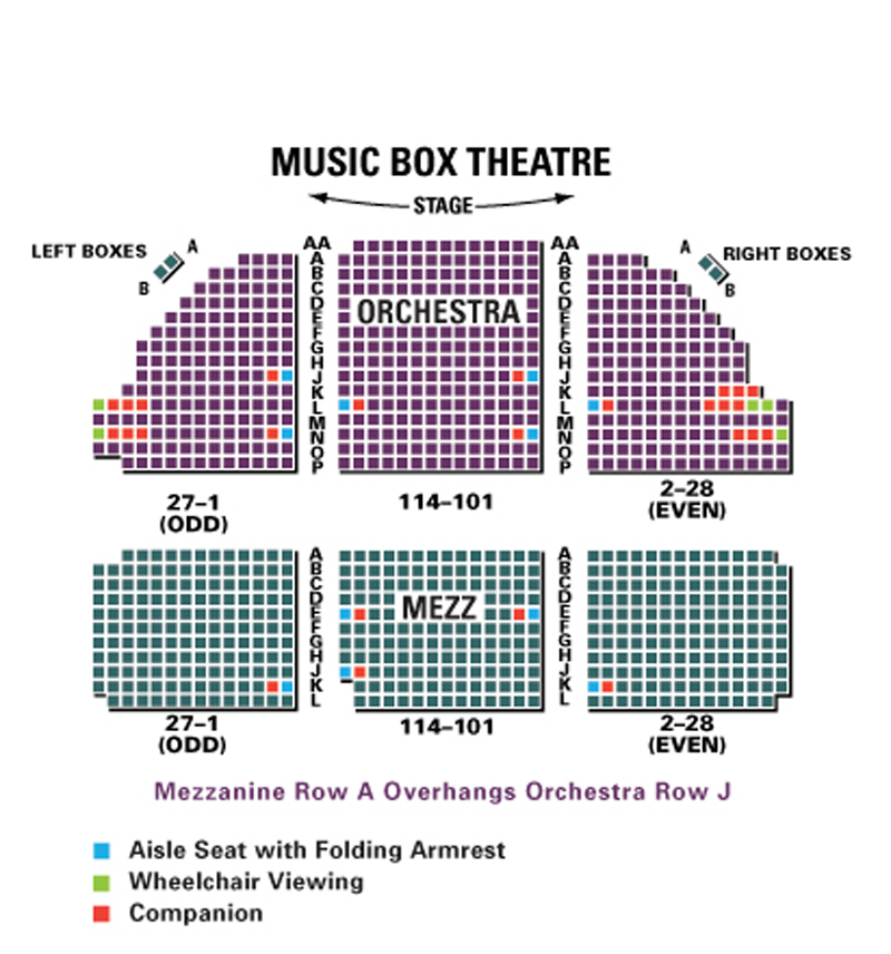 Music Box Theatre Seating Chart
