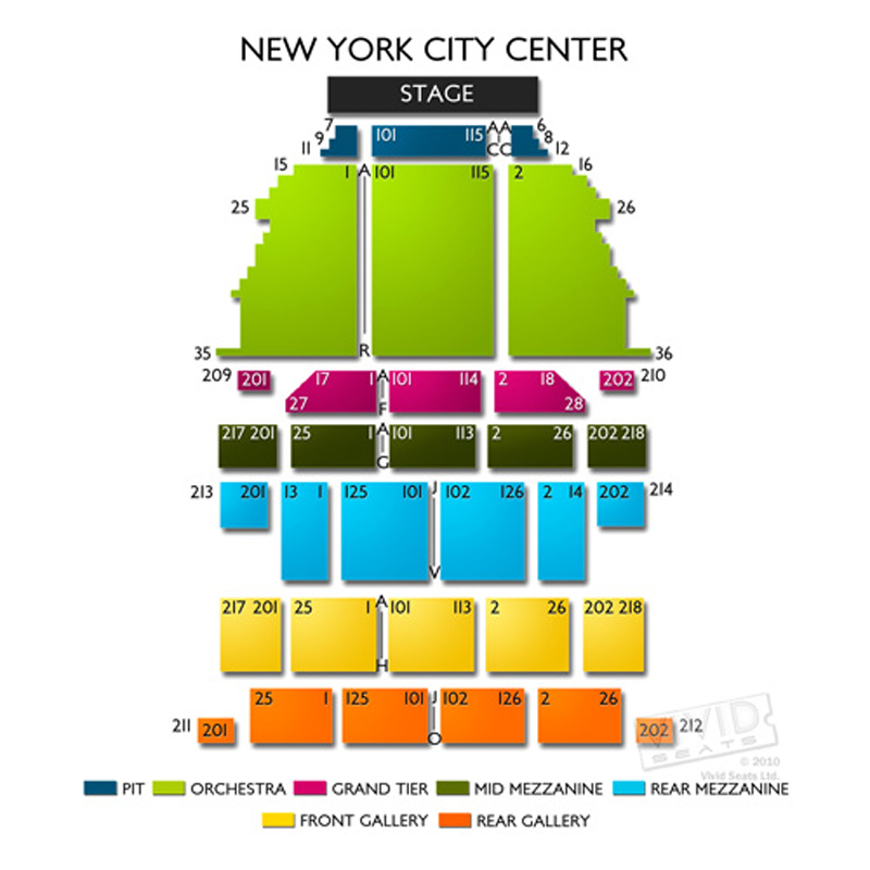 New york city center seating chart theatre in new york