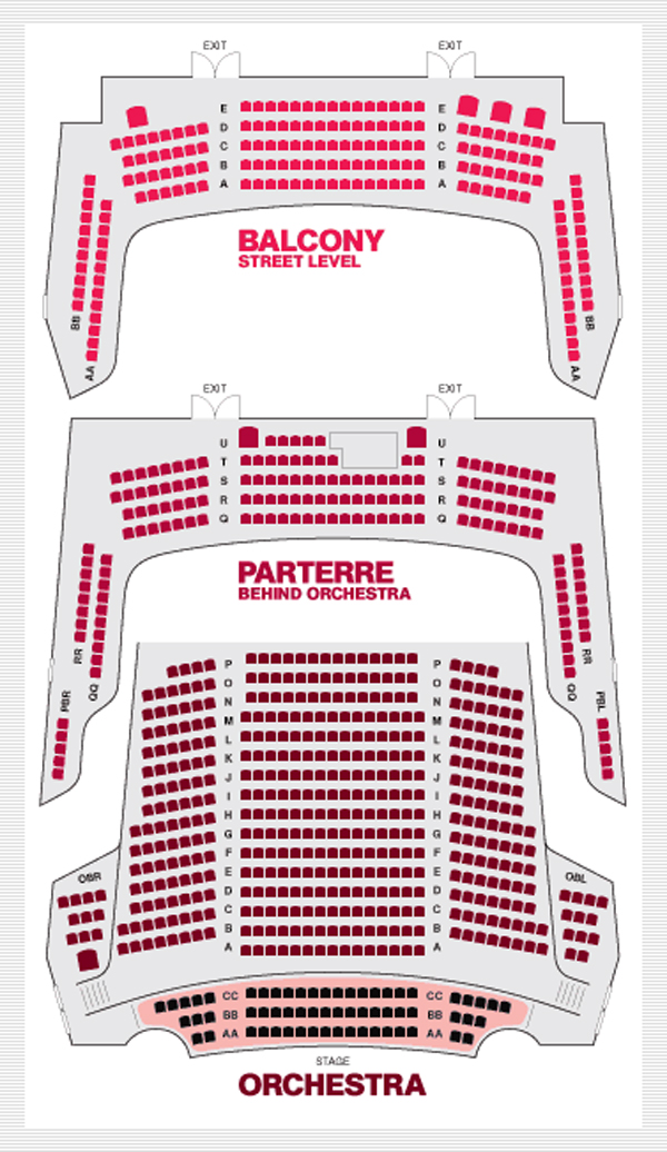 NYU Skirball Center Seating Chart