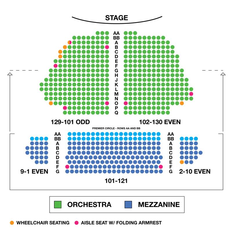 Samuel J. Friedman Theatre Seating Chart