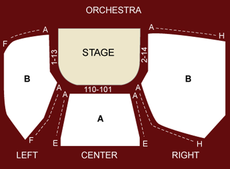 Snapple Theater Seating Chart
