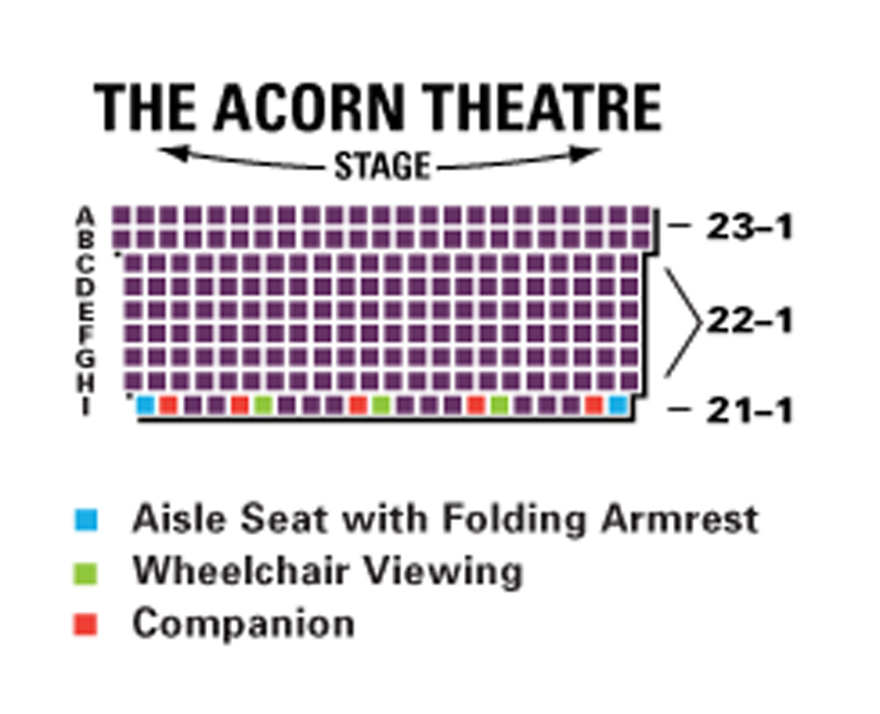 The Acorn Theatre Seating Chart