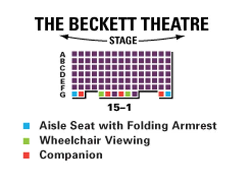 The Beckett Theatre Seating Chart