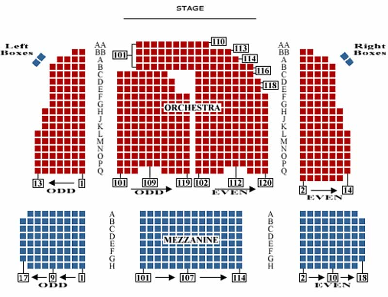 The Booth Theatre Seating Chart