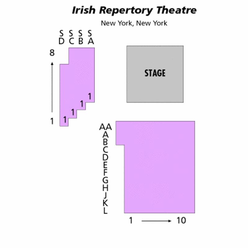 The Irish Repertory Theatre Seating Chart