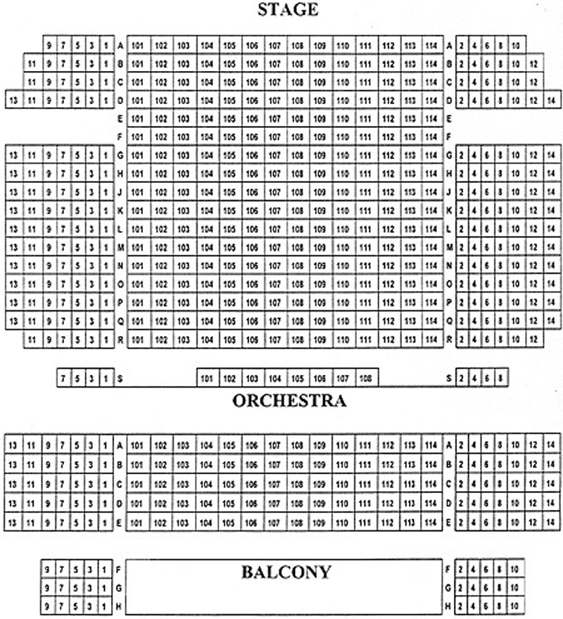 The Kaye Playhouse Seating Chart