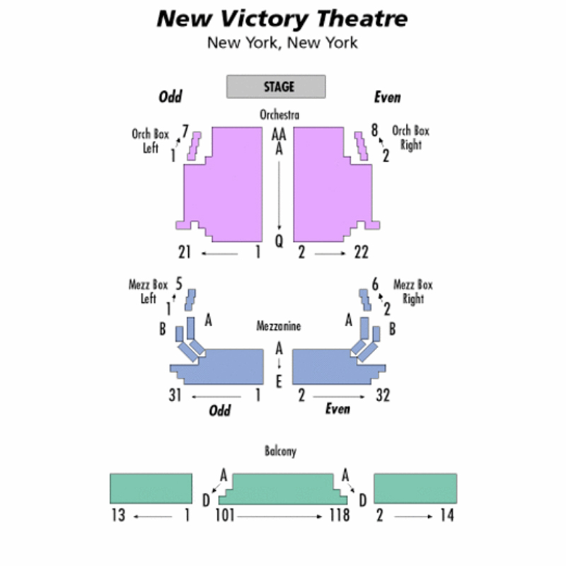The New Victory Theater Seating Chart
