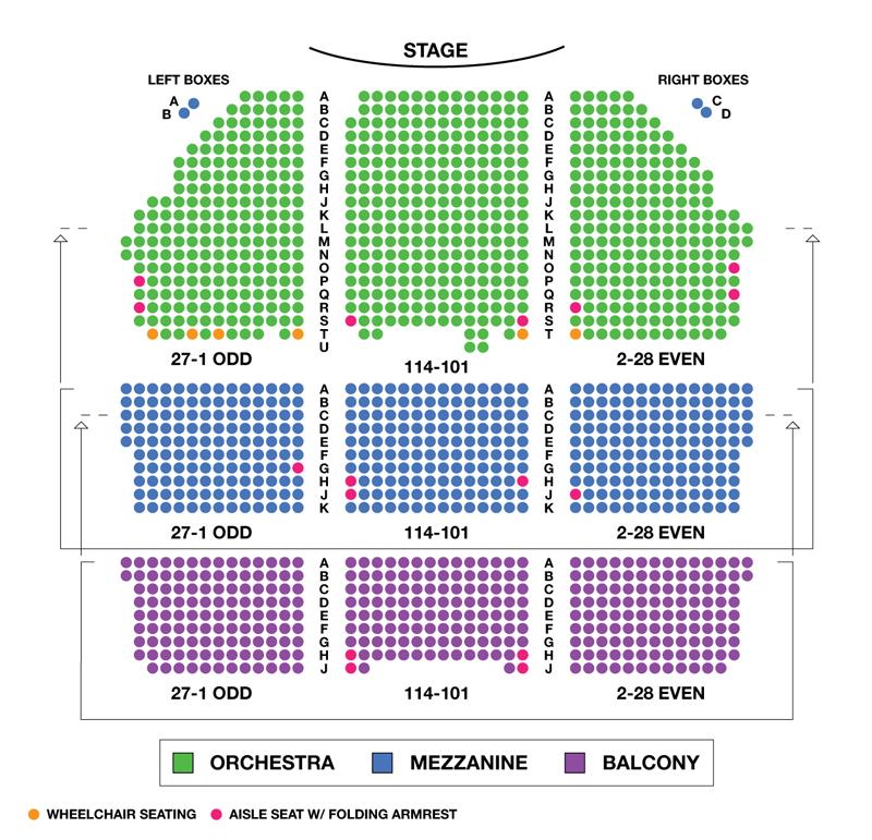 The Shubert Theatre Seating Chart