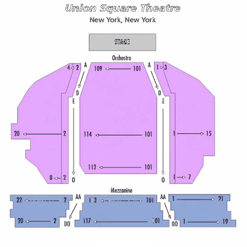 The Union Square Theatre Seating Chart
