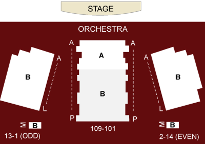 The Westside Theatre Seating Chart