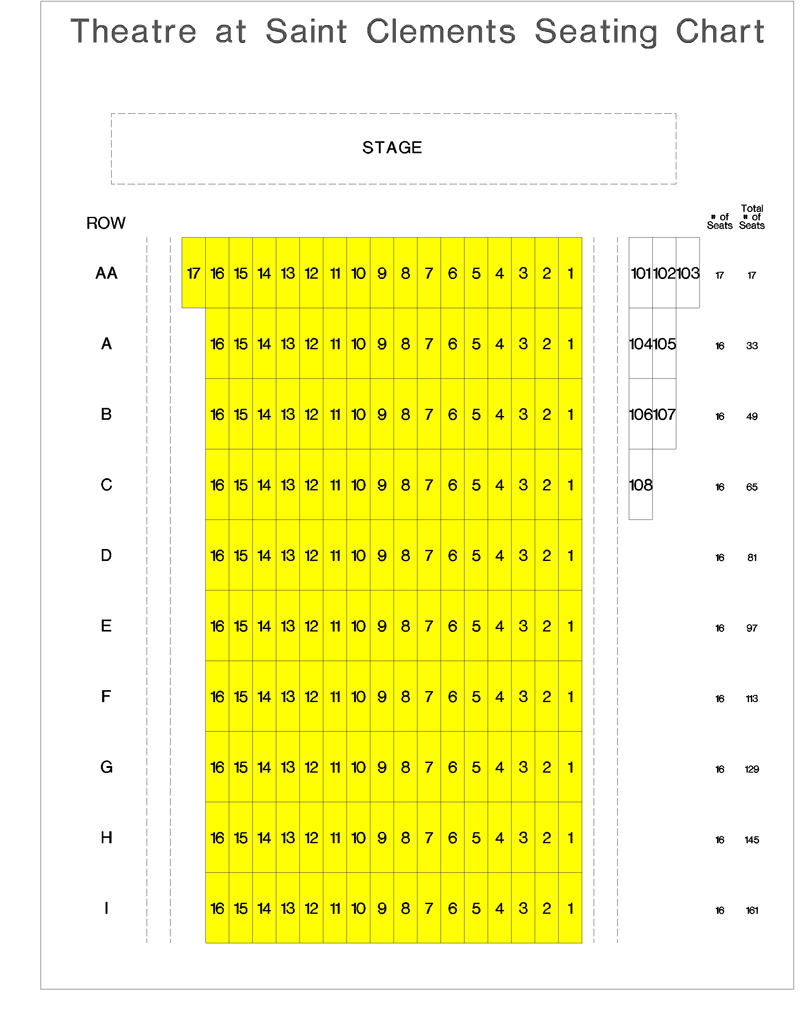 Theatre at St. Clement's Seating Chart