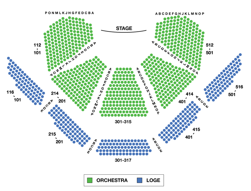 Vivian Beaumont Theater Seating Chart Shows Curly Playing At The Lincoln Center