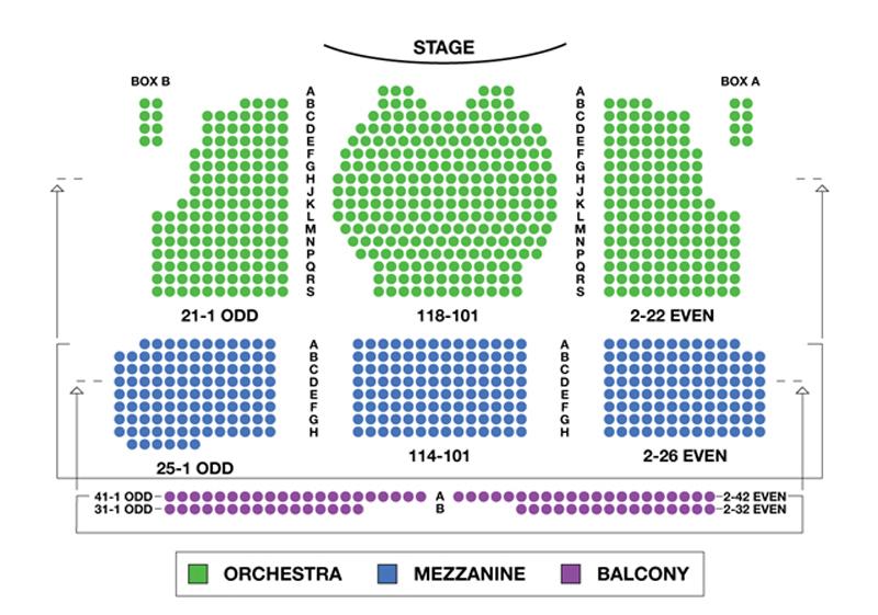 Walter Kerr Theatre Seating Chart