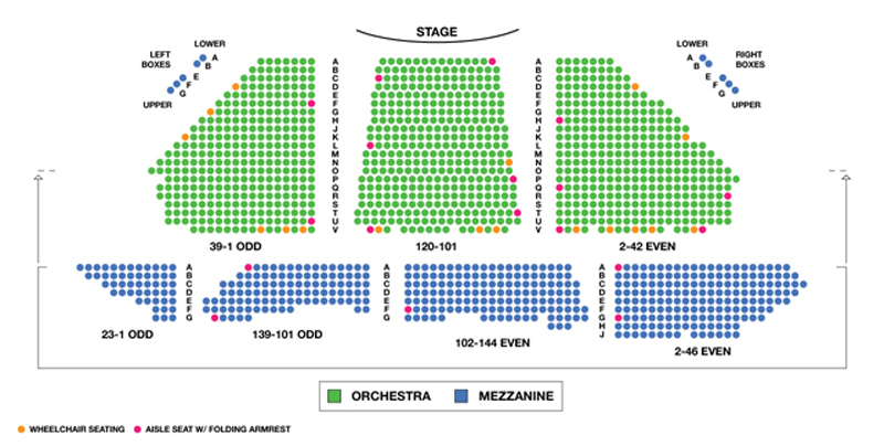 Winter Garden Theatre Seating Chart